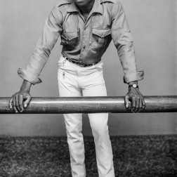 Youth with jeans, cap and suede lace-up shoes. (Chief Solomon Osagie Alonge, Ideal Photo Studio, Benin City, Nigeria)