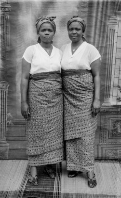 "Twin ""sisters"". (Chief Solomon Osagie Alonge, Ideal Photo Studio, Benin City, Nigeria)"
