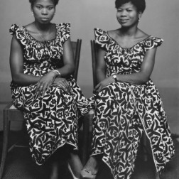 Women wearing identical Nigerian textiles is also common in Alonge's work. (Chief Solomon Osagie Alonge, Ideal Photo Studio, Benin City, Nigeria)