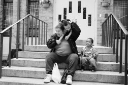 Carol, one year after her release on Mar. 18, 2014, with the children of a neighbor Cecil and Darjay. They all live in housing provided by Hour Children, an organization that provides services to formerly incarcerated women.