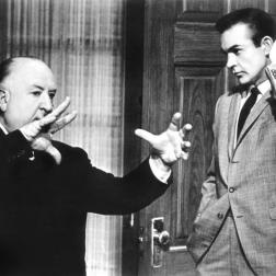 Alfred Hitchcock and Sean Connery, 1964