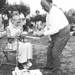Grace Kelly and Alfred Hitchcock by Edward Quinn, 1954
