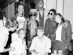 Magic Johnson, Marlon Jackson, Michael Jackson, Tatum O'Neal, Dan Aykroyd and Margot Kidder, 1979