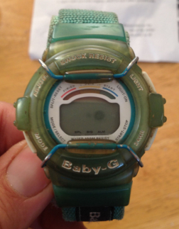 Wearing massive Baby G watches. Why did they need to be so shock resistant? What were people doing with them?