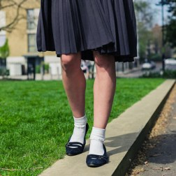 Rolling your skirt up, There was nothing more lame than being the one girl who didn't roll their skirt up at school. Now you could just, you know, buy a short skirt.