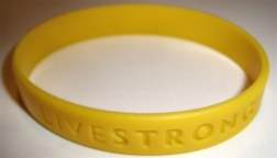 Wearing Livestrong bands. SMH!!