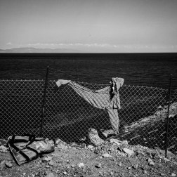 A discarded piece of clothing along the dirt road towards the village of Molyvos, Greece, where buses transport refugees to the ferry in Mytilini. Patrick Witty for BuzzFeed News