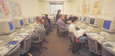 2. If you wanted to use the internet, that meant going to the ~computer room~, where you would spend endless hours waiting for web pages to load.