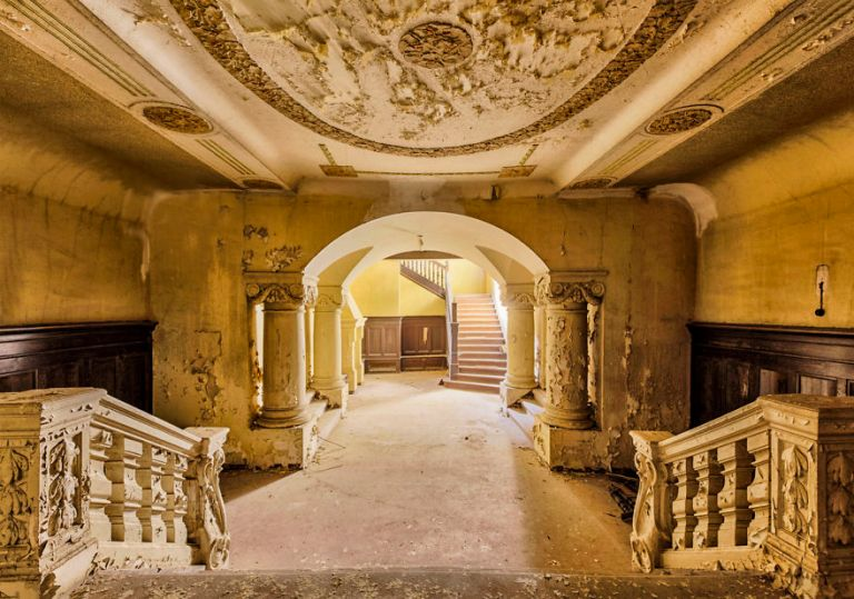 old abandoned baroque staircase