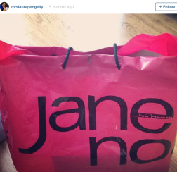 Using a Jane Norman bag to carry your PE kit, Not very practical gym bags as they tend to fall apart.