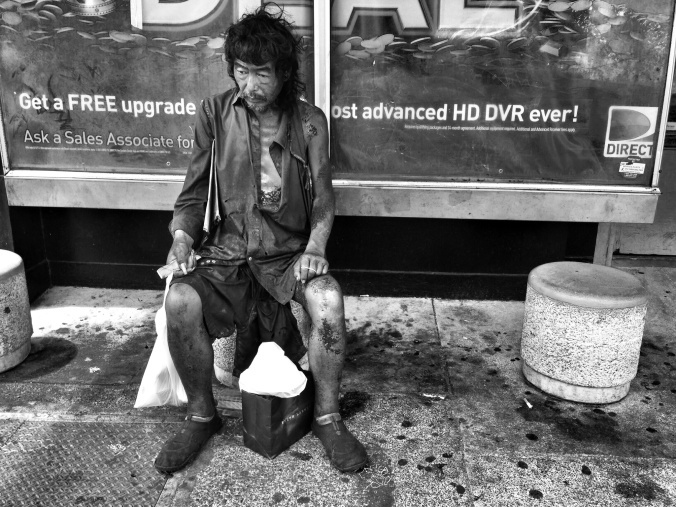 """A photograph taken by Kim of her father while he was living on the streets. Photo courtesy of Diana Kim, """"The Homeless Paradise"""