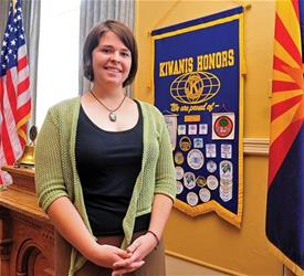 A fellow hostage claims Kayla Mueller, seen here in 2013, refused to escape with her and her sister in order to give the two young girls a better chance for freedom.   (AP Photo/The Daily Courier, Matt Hinshaw, File)
