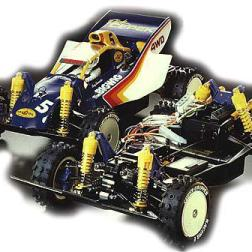 The BigWig was kit number 57 from Tamiya. A 1/10 scale 4WD off-road car, it was designed to commemorate the 10th anniversary of Tamiya's involvement in radio controlled cars.