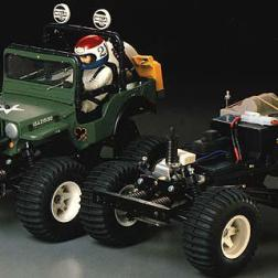 The Wild Willy was kit number 35 from Tamiya. A 1/10 scale 2WD off-road car, it was a very popular wheelie car.