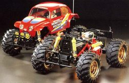 The Monster Beetle was kit number 60 from Tamiya. A 1/10 2WD, off-road monster truck, this kit improved upon the original Blackfoot with lots of hop-up parts.