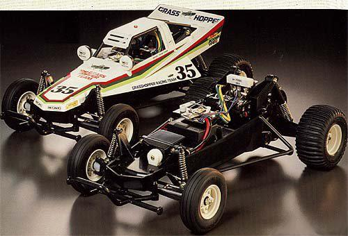 The Grasshopper was kit number 43 from Tamiya. A 1/10 scale off-road vehicle, the car was designed for the beginner.
