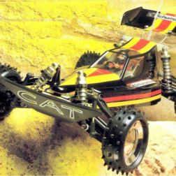 Very impressive 1987 follow up to Schumacher's debut Competition All Terrain 'CAT' buggy. Incredibly good looking in stunning box art colours and, more importantly, another proven competition winner (Worlds & Euro) the 4WD XLS was a real star.