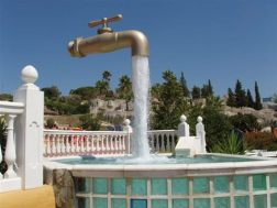 The Magic Tap Magic tap, which appears to float in the sky with an endless supply of water. Located at Aqualand, Cadiz.
