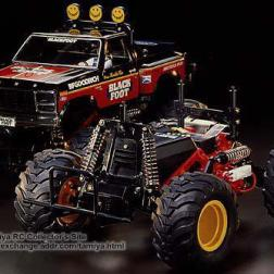 The Blackfoot was kit number 58 from Tamiya. A 1/10 2WD, off-road monster truck, this was the kit that kick started the monster truck craze from Tamiya.