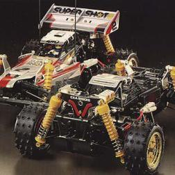 "The Supershot was kit number 54 from Tamiya. A 1/10 scale off-road vehicle, it was ultimate ""hopped up"" Hotshot."