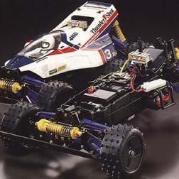 The Thunder Shot was kit number 67 from Tamiya. A 1/10 4WD off-road car, it was designed as a replacement for the aging HotShot chassis type cars.