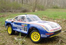 The Porsche 959 was kit number 59 from Tamiya. A 1/12 scale 4WD rally car, it was perhaps one of the most detailed and sophisticated cars ever to be produced by Tamiya.