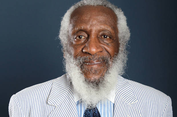 "Comedian and activist Dick Gregory, from the upcoming documentary film ""Soul Food Junkies"", poses for a portrait during the PBS TCA Press Tour on Saturday, July 21, 2012, in Beverly Hills, Calif. (Photo by Matt Sayles/Invision/AP)"