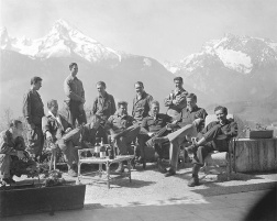 Dick Winters and Easy Company (Band of Brothers) are pictured at Hitler's residence, the Eagle's Nest.