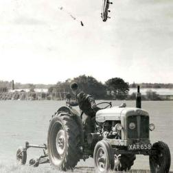 An F-1 pilot ejects at an extremely low altitude, but survives with minor injuries [1962]