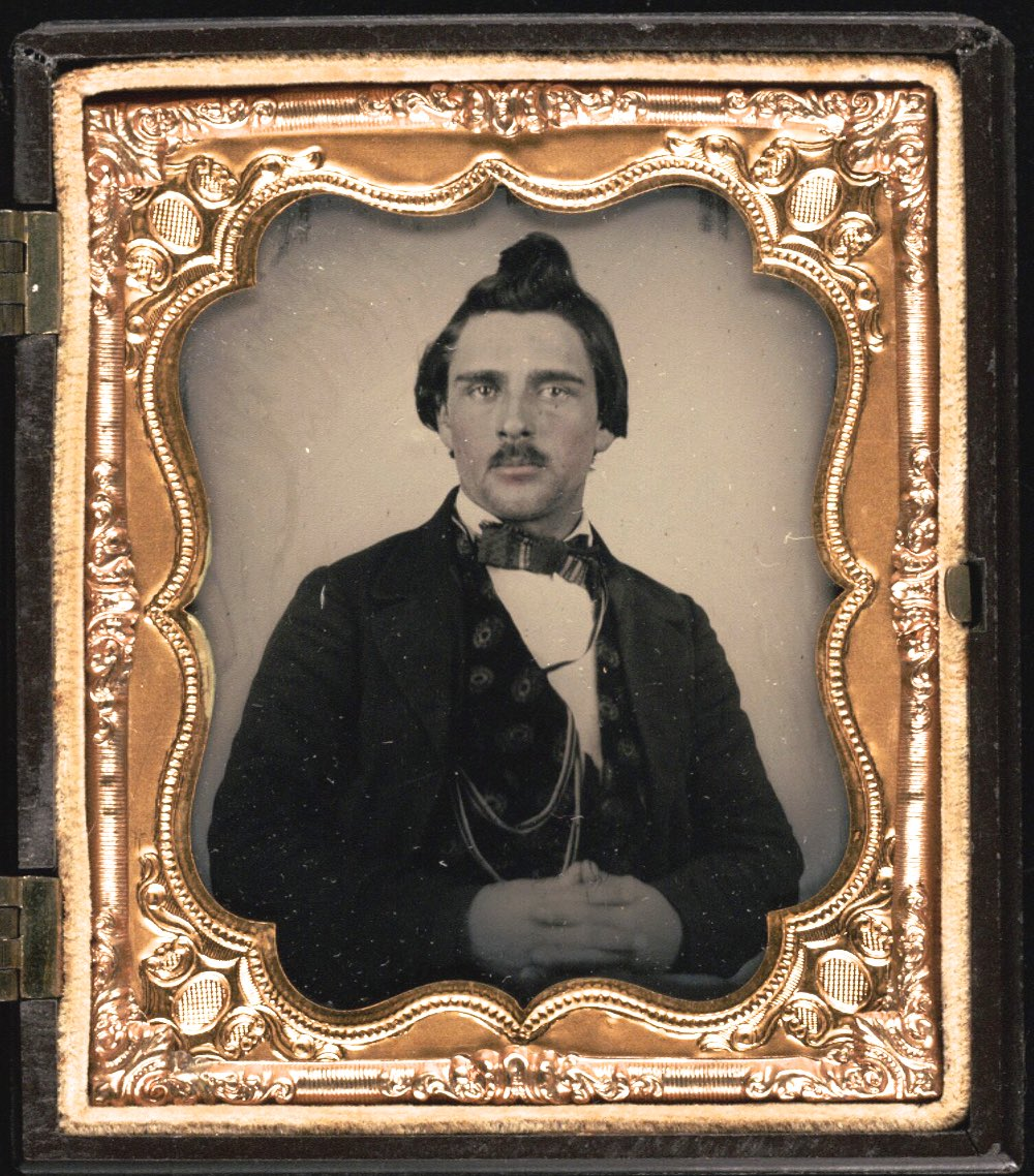 1857 Lorenzo Oatman, Olive's brother. IMAGE: BEINECKE RARE BOOK AND MANUSCRIPT LIBRARY