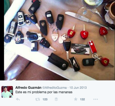 Twitter 'My problem in the mornings,' according to Alfredo Guzmán.