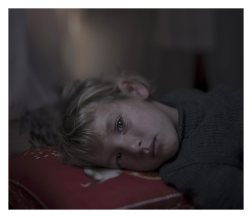 Dar-El-Ias. Walaa, 5, wants to go home. She had her own room in Aleppo, she tells us. There, she never used to cry at bedtime. Here, in the refugee camp, she cries every night. Resting her head on the pillow is horrible, she says, because nighttime is horrible. That was when the attacks happened. By day, Walaa's mother often builds a little house out of pillows, to teach her that they are nothing to be afraid of.