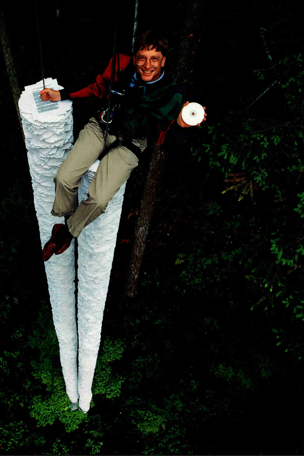 """""""This CD-ROM can hold more information than all the paper that's here below me"""" – Bill Gates [1994]"""